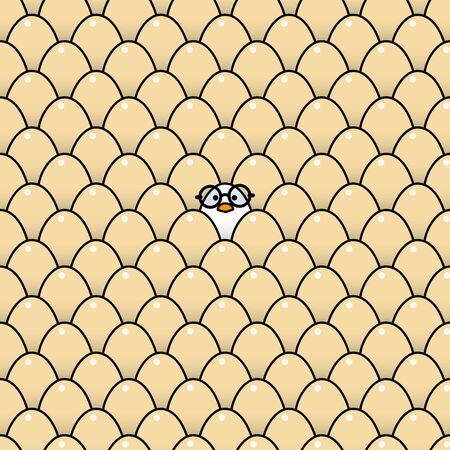 rimmed: Individual polluelo fresco blanco desgastando negros Vidrios bordeados redonda rodeada de Id�ntico Brown huevos