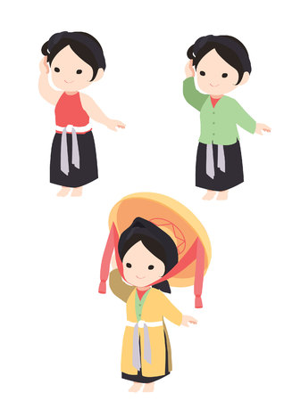 Vietnamese girl in traditional dress