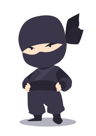 ninja in black costume