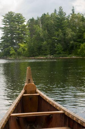 weer geven van binnen de voyager canoe in Voyagers nationaal park