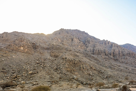 Geological landscape of Jabal Jais characterised by dry and rocky mountains, Mud Mountains in Ras Al Khaimah, United Arab Emirates Reklamní fotografie