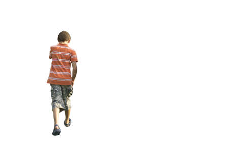 The boy the teenager on a white background Stock Photo - 12912983