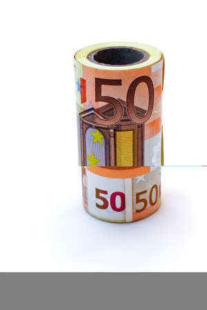 monetary denominations advantage 50 euros, on a white background