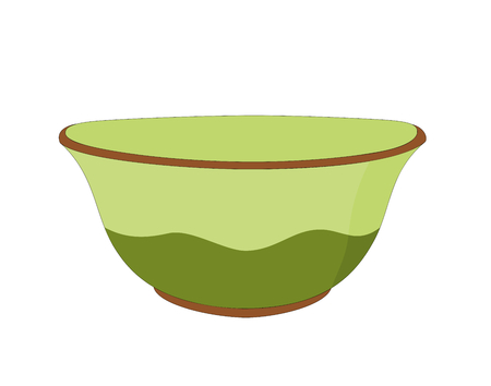 Vector modern green ceramic bowl kitchenware