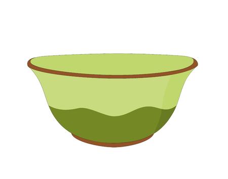 Vector modern green ceramic bowl kitchenware