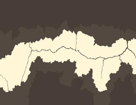 Illustration d'un fond de mur de ciment fissuré marron et crème. Banque d'images - 97814282