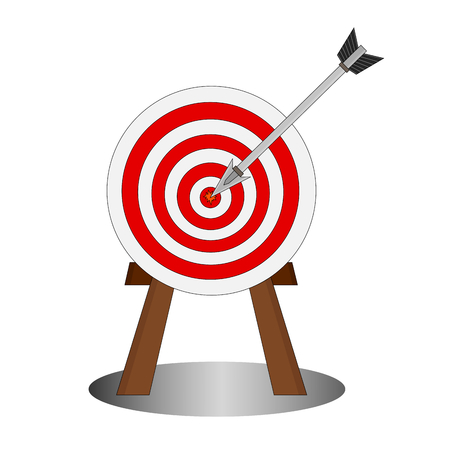 Isolated shoot arrow into center the target, goal business concepts