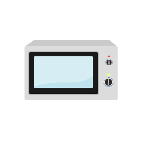 Isolated electric microwave cooking device icon