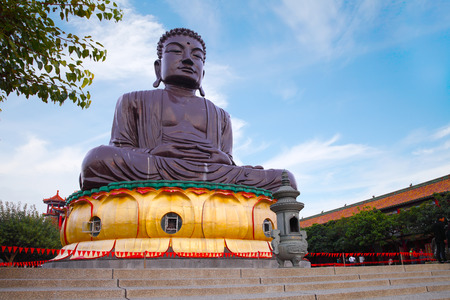 the big Buddhist statue in changhua, taiwan