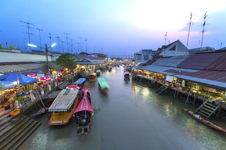 Amphawa market canal