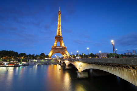 paris at night: eiffel tower at night