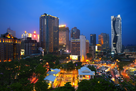 Taichung night view, Taiwan
