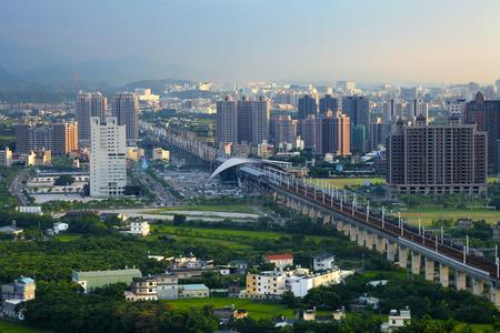 cityscape of Zhubei city, Taiwan