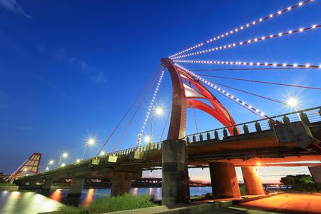 megyeri: night view of Hsinchu with bridge at night