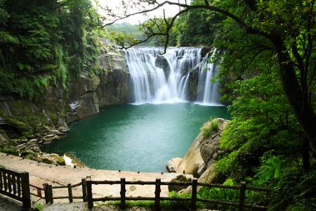 waterfall: shifen waterfall in pingxi, Taipei, Taiwan