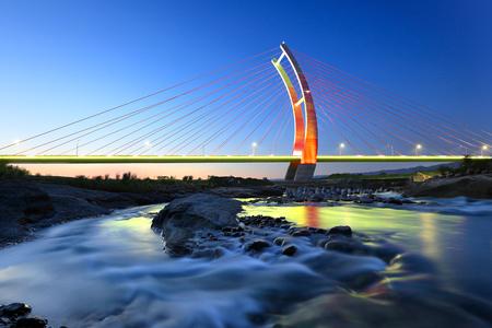 night view of chubei with bridge at night