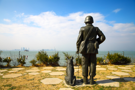 A statue of a soldier in Kinmen, Taiwan