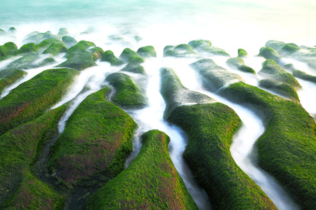 Stone Trench of Laomei Coast Banque d'images