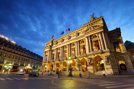 Opera Garnier, París, Francia Foto de archivo - 46216919