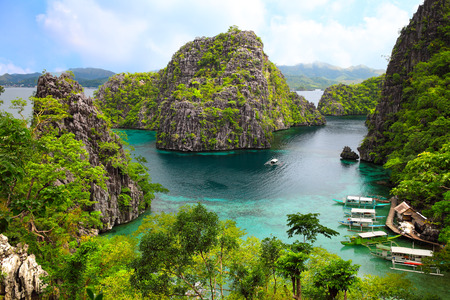 palawan: landscape of Coron, Busuanga island, Palawan province, Philippines Stock Photo