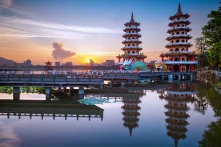 Lianchihtan Scenic area at sunrise in Kaohsiung, Taiwan