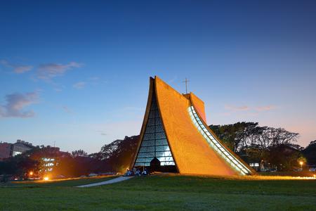 Luce Memorial Chapel sur le campus de l'Université de Tunghai à Taichung, Taiwan Banque d'images - 60011746