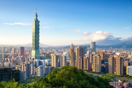 taipei: Skyline of Xinyi District in downtown Taipei, Taiwan.