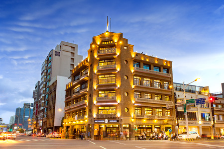 Night Scene of Hayashi Department Store in Tainan.