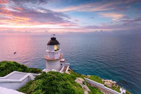 The Dongyong Lighthouse, in Dongyin Township, Lienchiang County, Fujian Province, Republic of China
