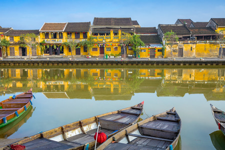 The old town Hoi An city in Vietnam.