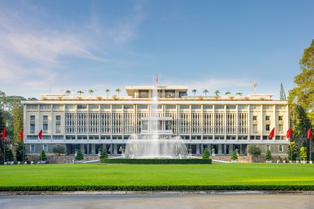 Independence Palace in Ho Chi Minh City, Vietnam. Independence Palace is known as Reunification Palace and was built in 1962-1966. Editorial