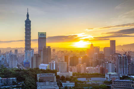 City of Taipei at sunset, Taiwan