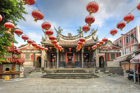facade of tianhou temple in Penghu island, Taiwan