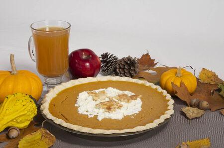 Pumpkin Pie and Cider Imagens