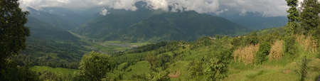hillsides: A broad view of the Himalayan hillsides.
