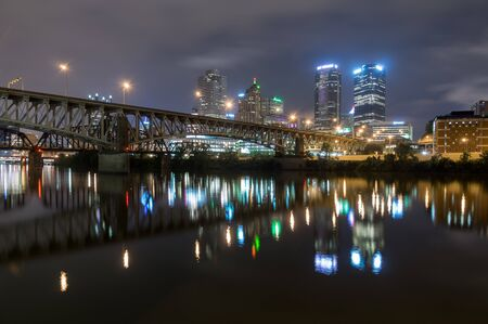 nightime: The nightime skyline of Pittsburg Pennsylvania.