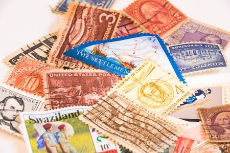 postage stamps: A collection of postage stamps from around the world.