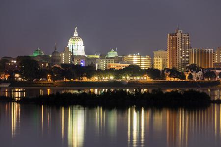 nightime: Harrisburg State Capital