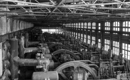 The Large Engine House in Historic Steel Plant. 版權商用圖片