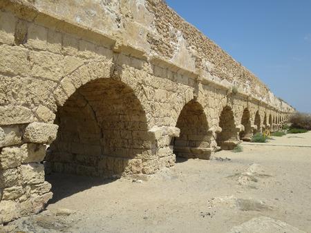 A roman aquaduct in Israel.