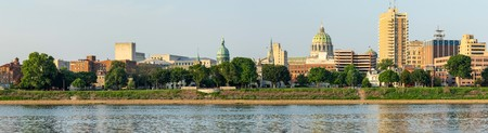 A panorama of the skyline of the state capital of Harrisburg. Stok Fotoğraf