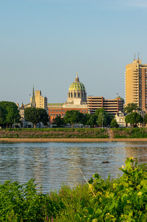 The state capital of Harrisburg as seen from across the Susquehanna River.
