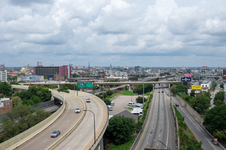 The road infrastructure of the city of Philadelphia. Editorial