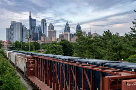 The Trains and Infrastructure of Philadelphia, Pennsylvania. Reklamní fotografie