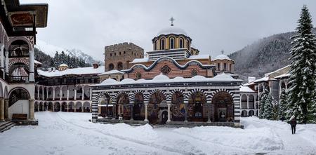 Rila Monastery situated in the Rila Mountains of Bulgaria.