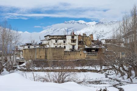 A small Tibetan village in the Himalaya Mountain Range of Nepal.