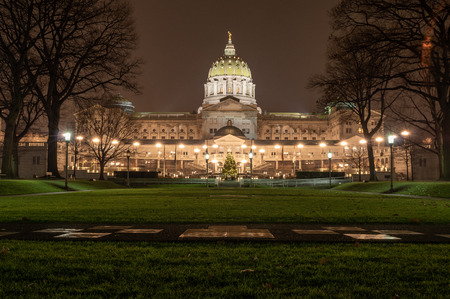 A view of the Harrisburgh State Capital from the Soldiers Grove. Stock Photo - 119832735