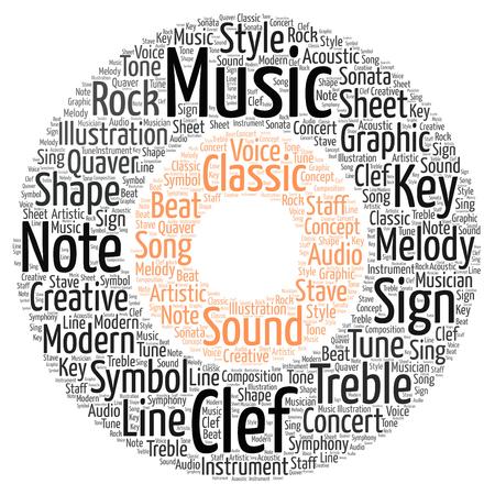 A word cloud showing a music record. Фото со стока