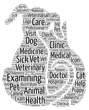 A word cloud conceptual idea showing the need for animal healthcare.
