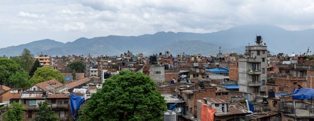 A view of the city of Kathmandu, Nepal in south east Asia.